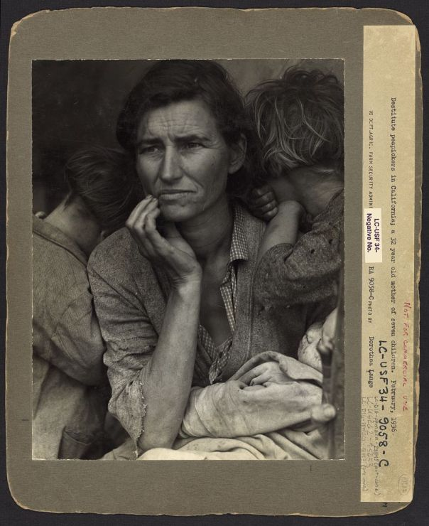 Dorothea lange migran mother