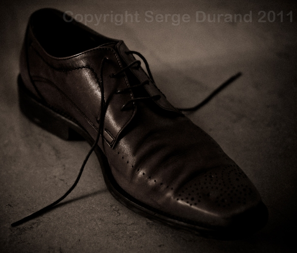 chaussure brune nature morte still life