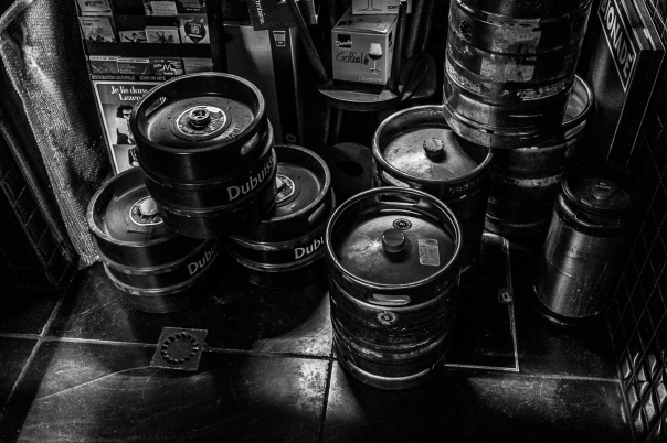 fûts bière toilettes Bruxelles